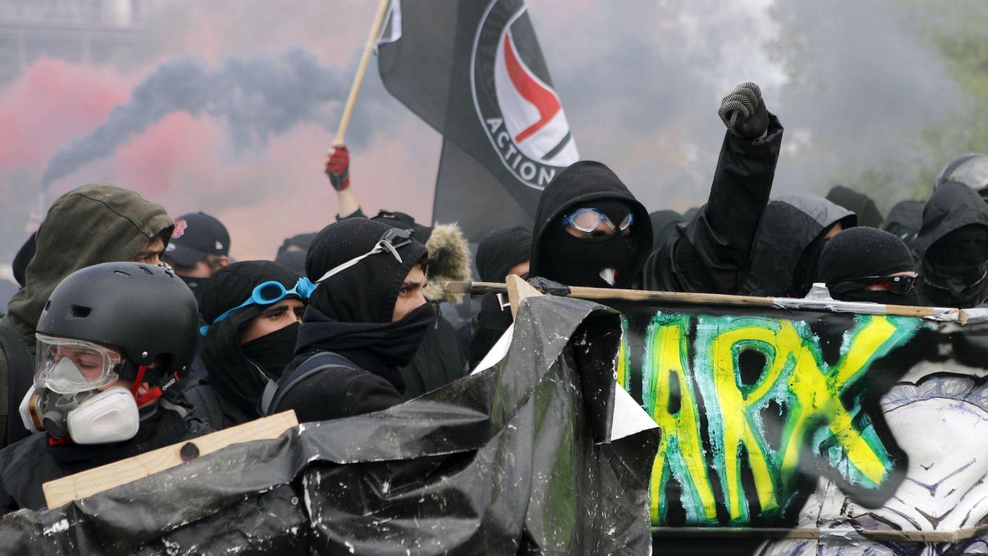 Масови арести и потрошени магазини след първомайските безредици в Париж