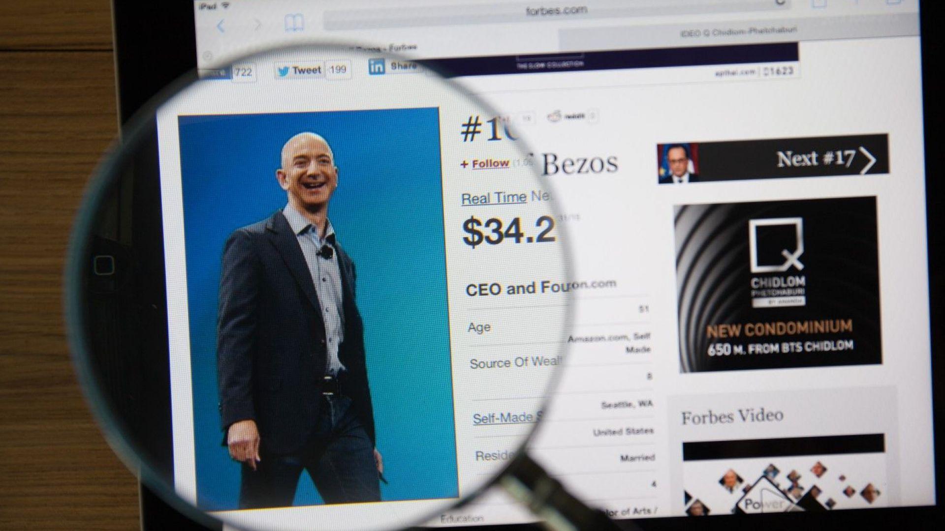 """""""Амазон"""" повиши минималната си заплата до $15 на час в САЩ"""
