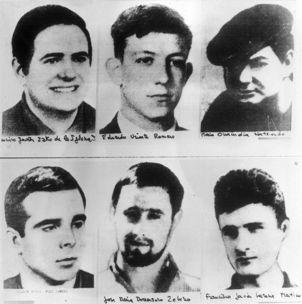 Шестима от членовете на ЕТА през 1970 година