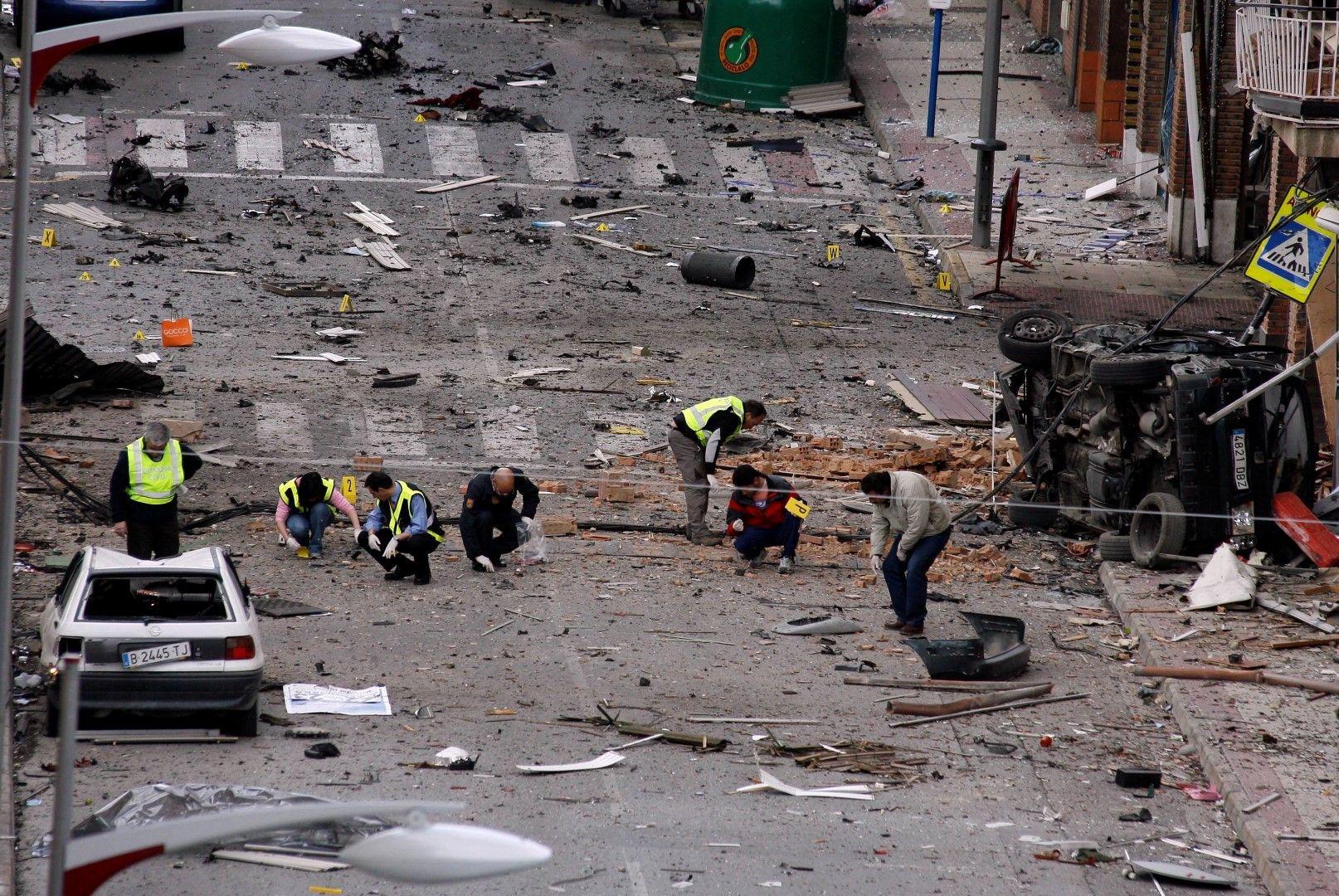 Експлозия пред полицейски участък в Калахора през 2008 г.