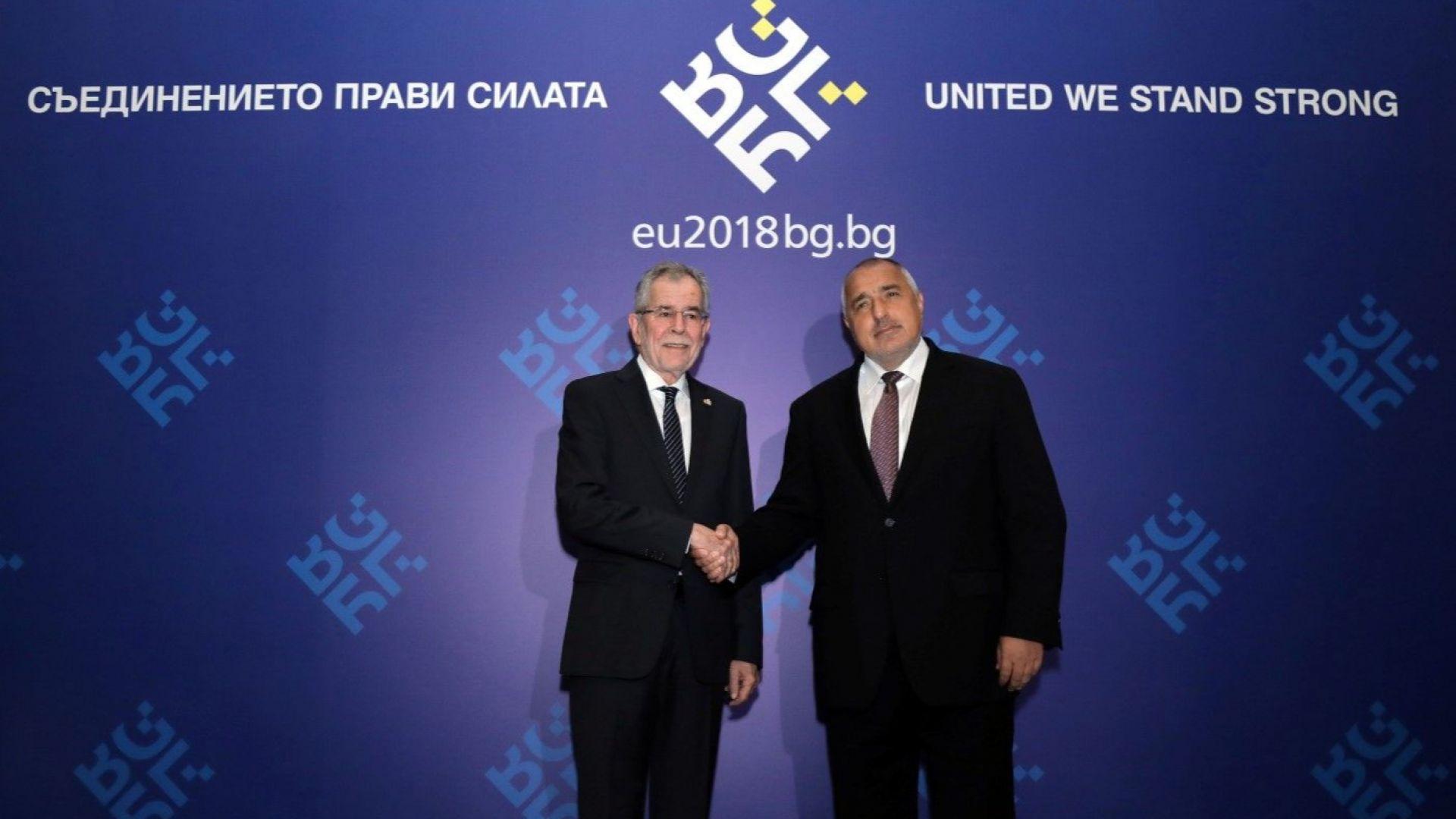 Борисов и Александър ван дер Белен обсъдиха обстановката на Балканите