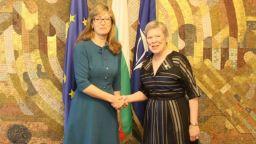 Захариева: Подкрепата на България за НАТО остава непроменена