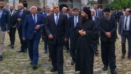 Борисов празнува Гергьовден в Зографския манастир