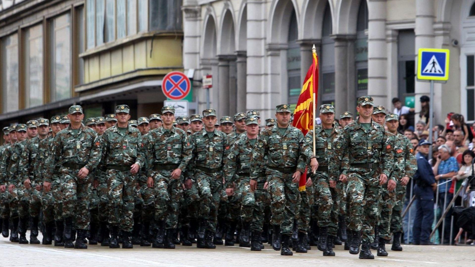За първи път македонска рота участва в парада