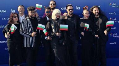 "Жана с прозрачно деколте на откриването на ""Евровизия"""