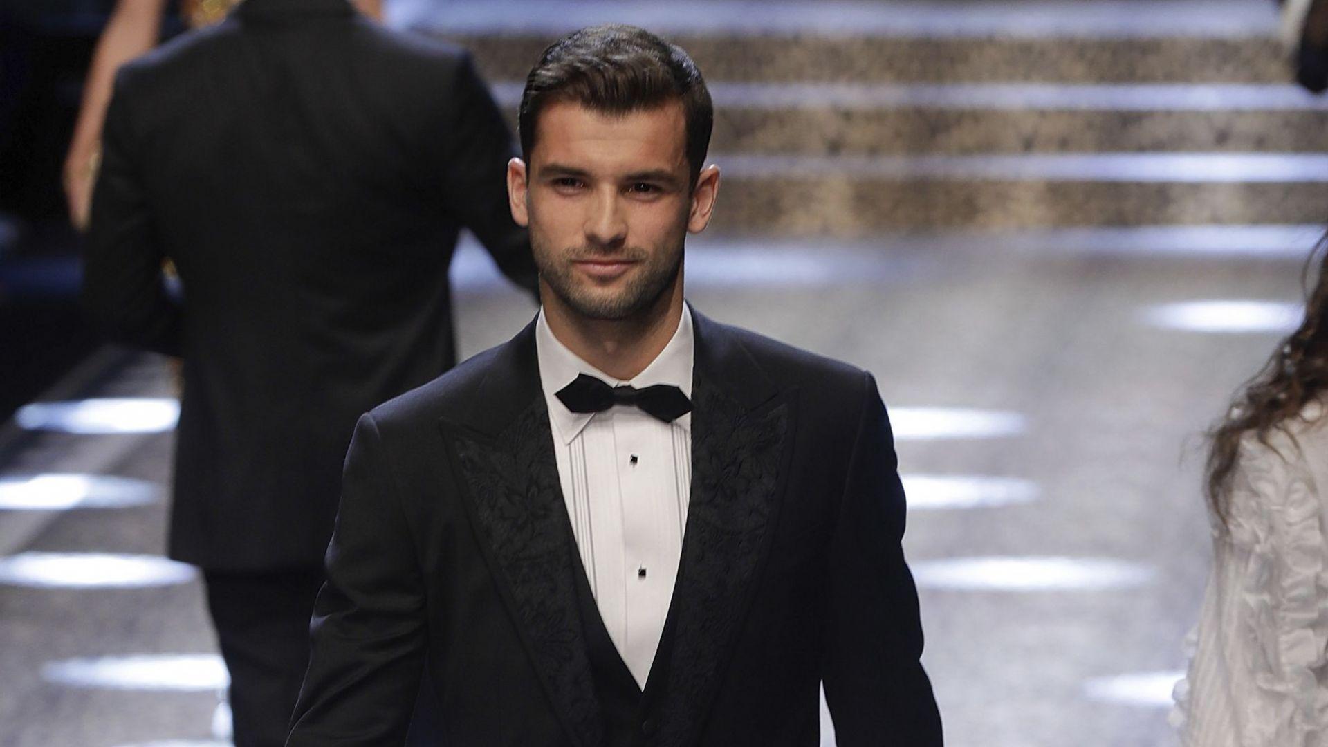 Григор Димитров дефилира за Dolce&Gabbana през 2017 г.