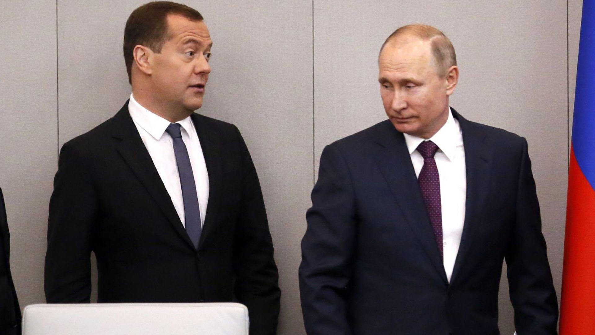 Путин пак наложи Медведев за премиер, ще харчат още 8 трилиона рубли