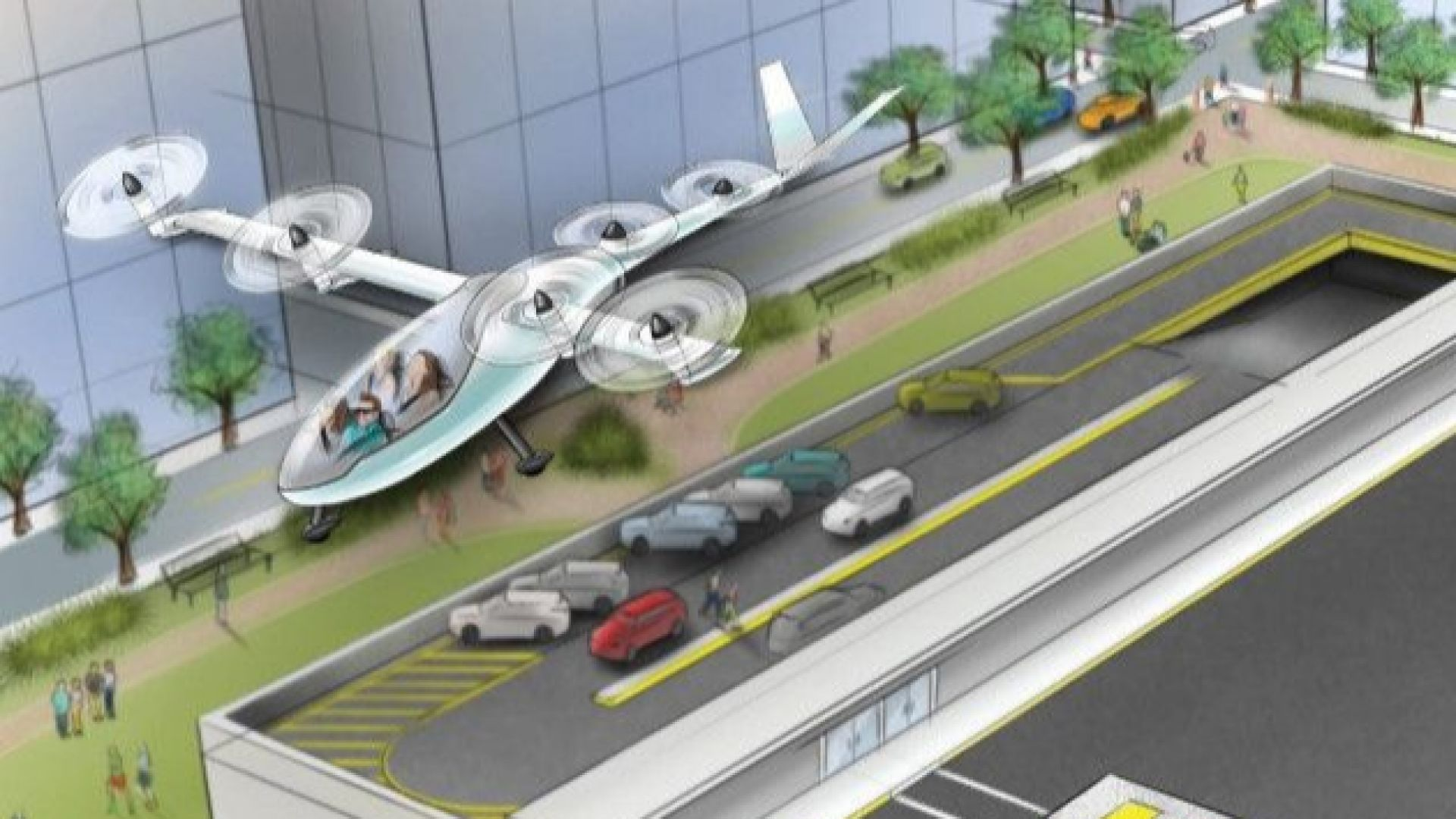 Uber показва прототип на летящо такси
