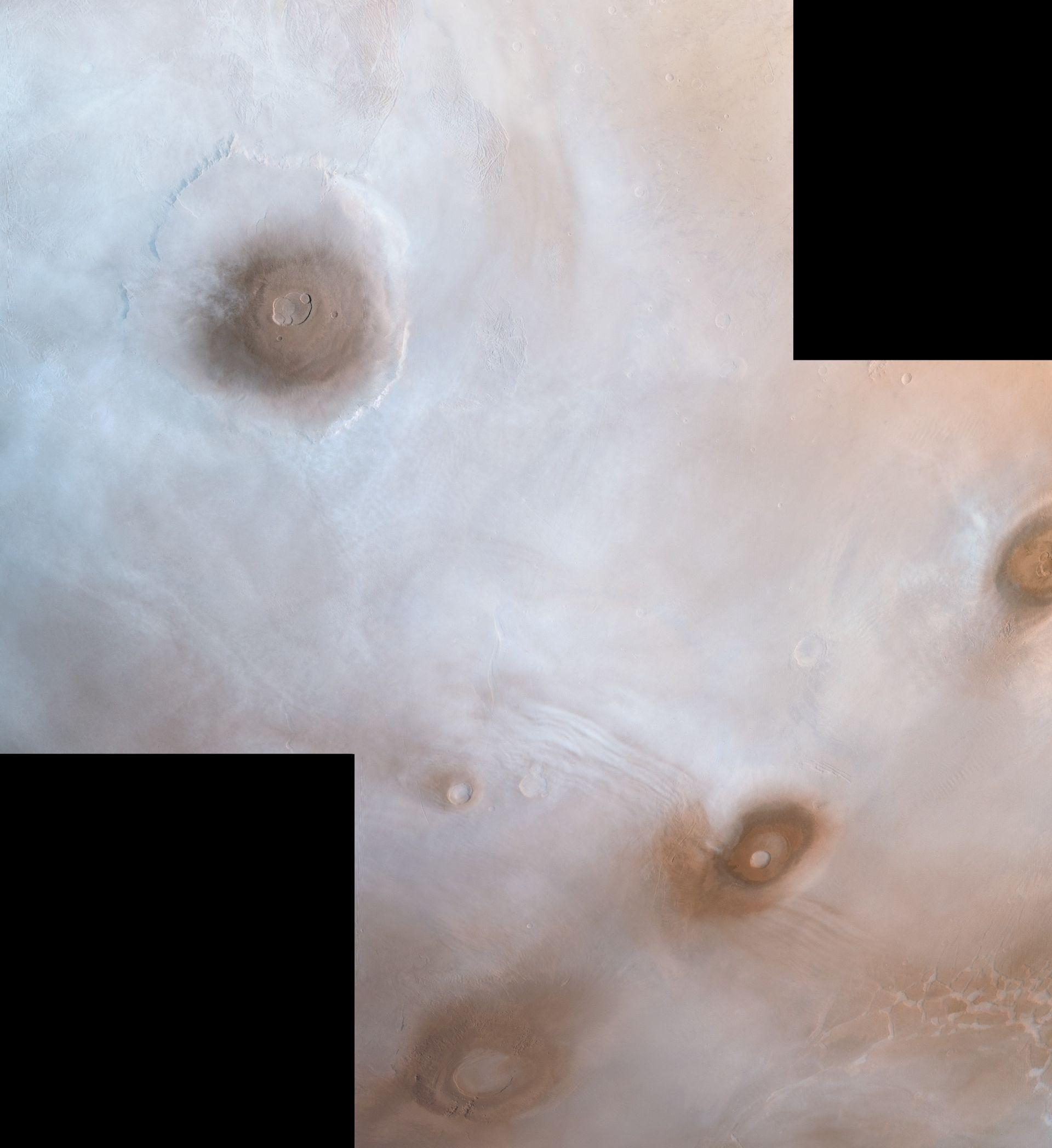 Най-високите планини в сълнечавата система са на Марс