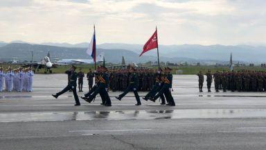 Военен парад и в руската база Хмеймим в Сирия