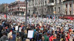 """1 милион на шествие на """"Безсмъртния полк"""" в Москва (видео)"""