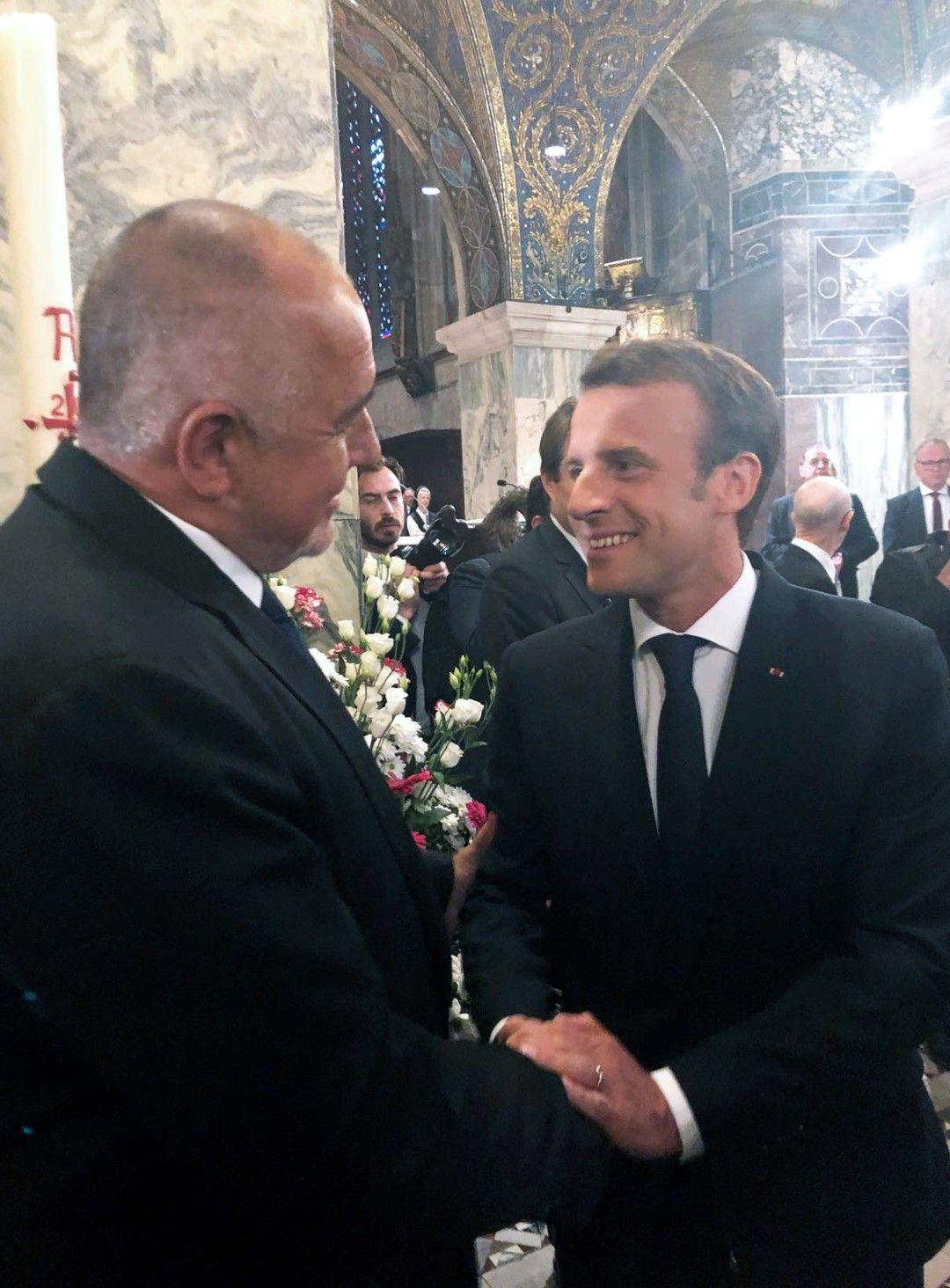Борисов лично поздрави Макрон