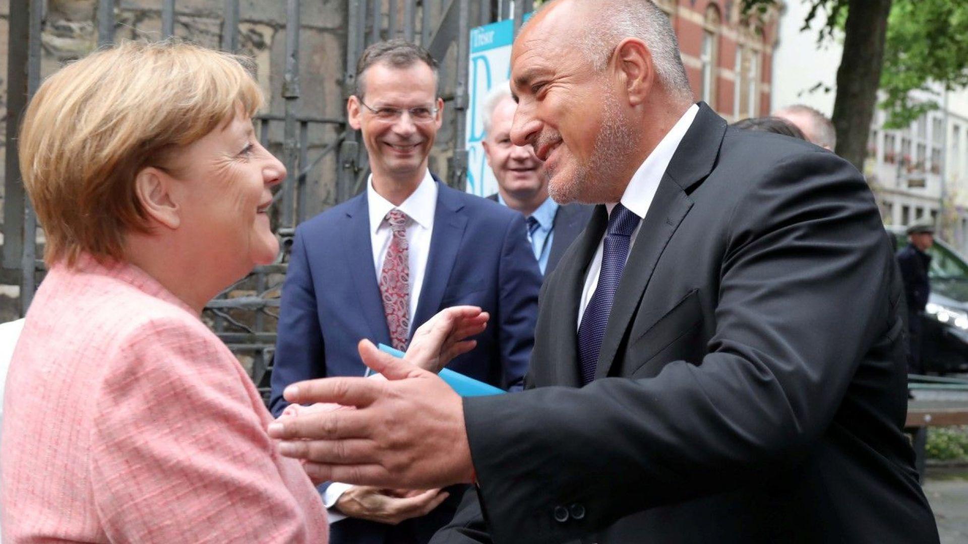 Борисов се срещна с Меркел и Макрон (снимки)