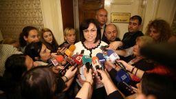 Нинова след срещата с Валери Симеонов: Имаме нова ситуация - търсят се плаващи мнозинства