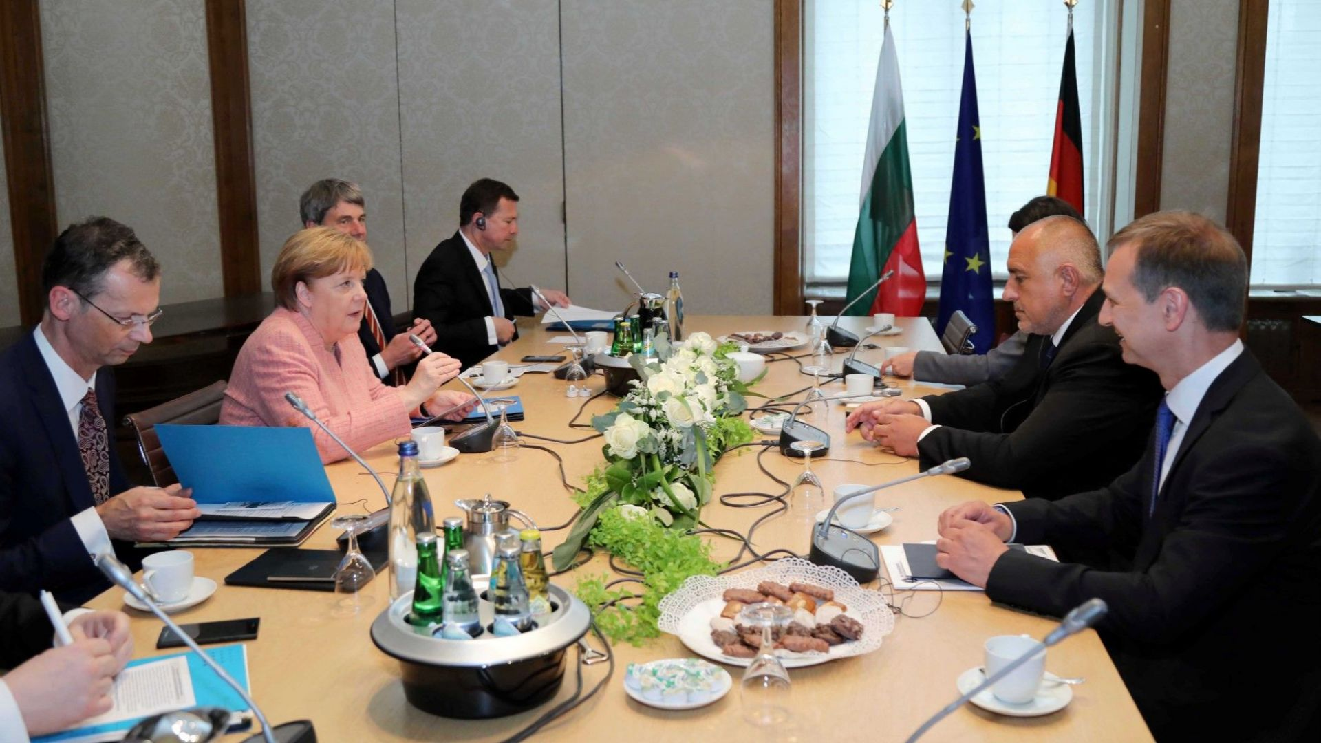 Премиерът Бойко Борисов се срещна с канцлера на Германия Ангела Меркел в Аахен