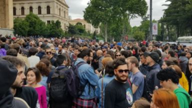 Протести в Грузия, искат оставката на премиера и шефа на МВР