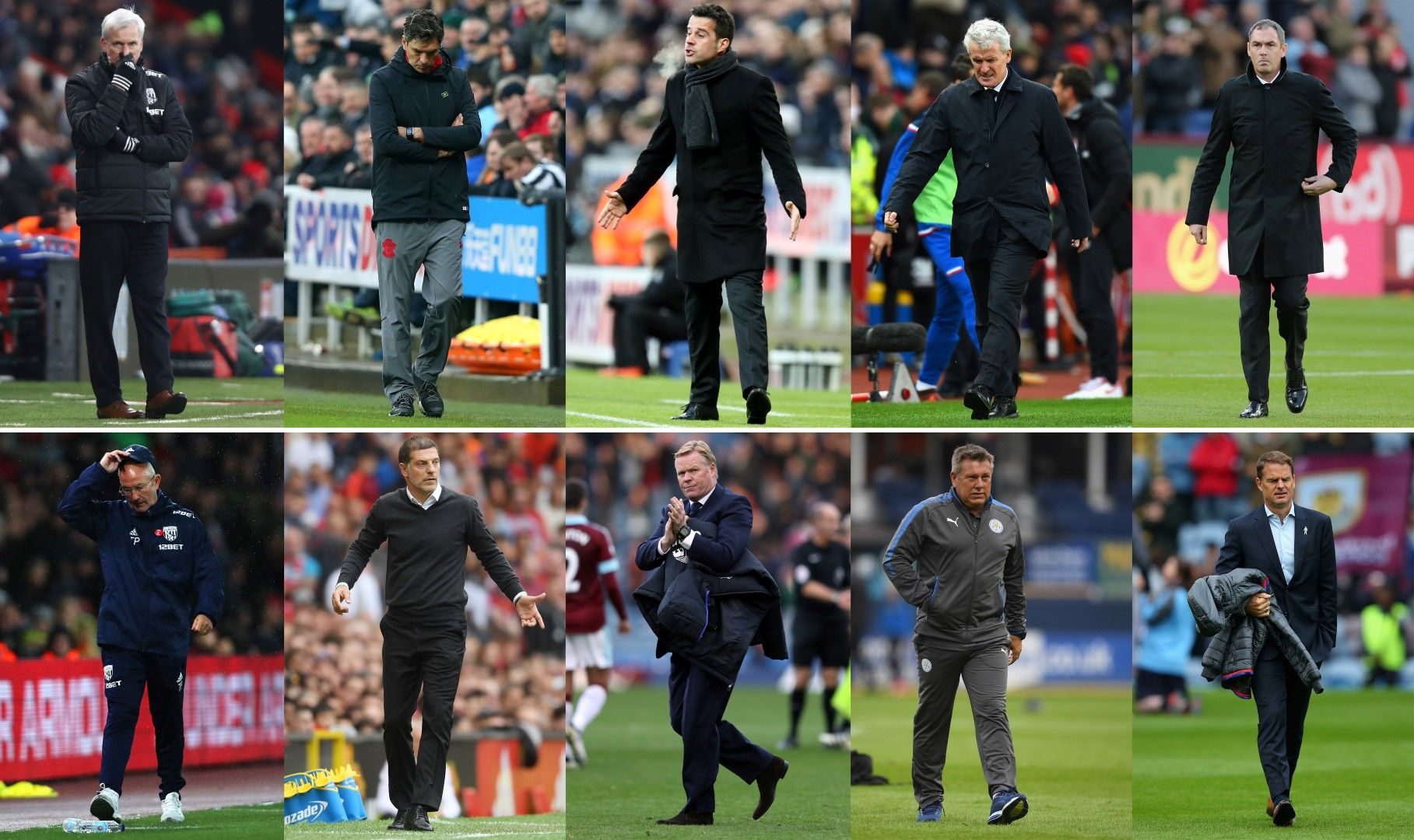 Уволнените мениджъри през сезона в една снимка. Снимка Getty Images