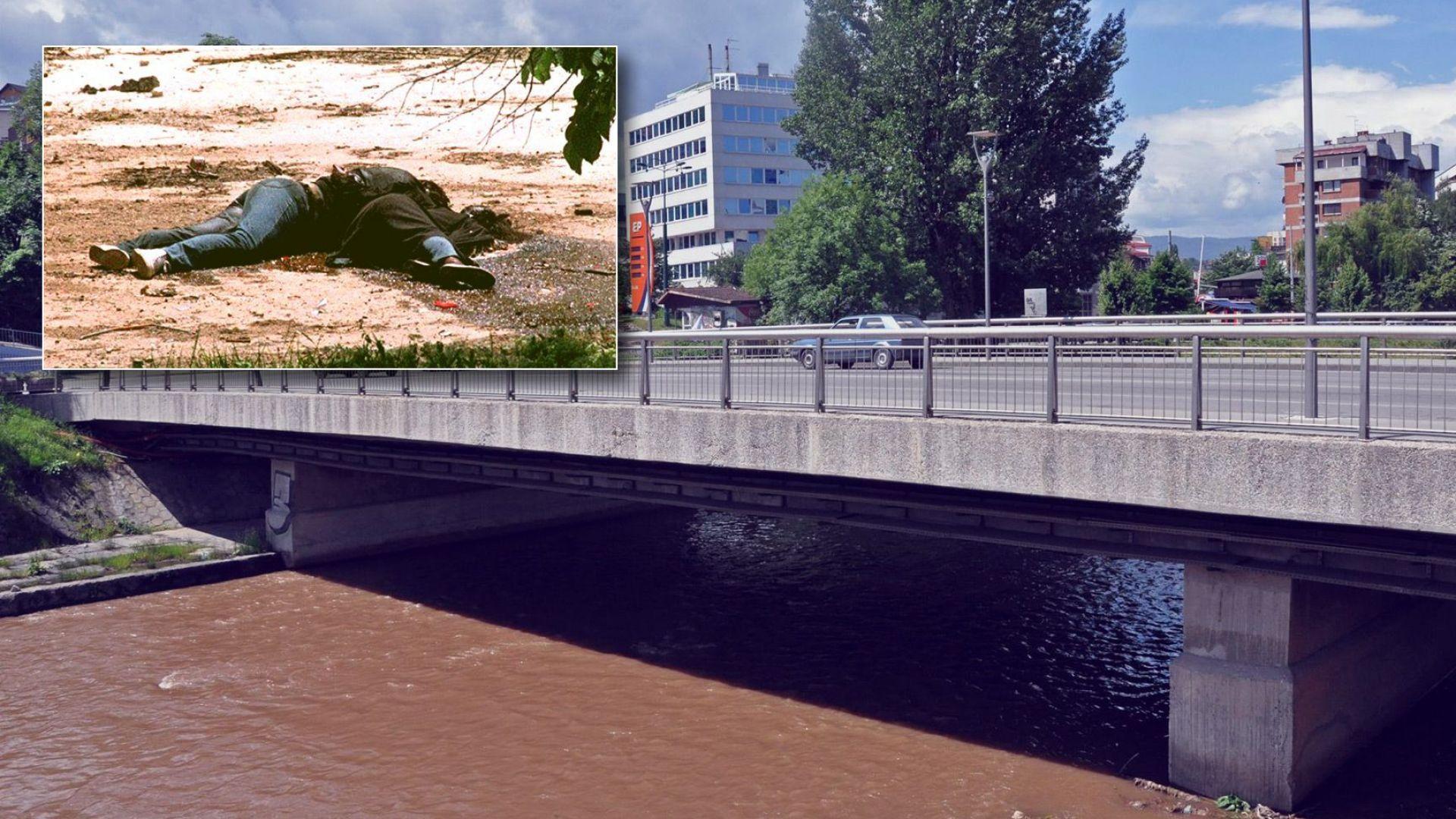 Снайперист покоси Сараевските Ромео и Жулиета на моста Връбаня