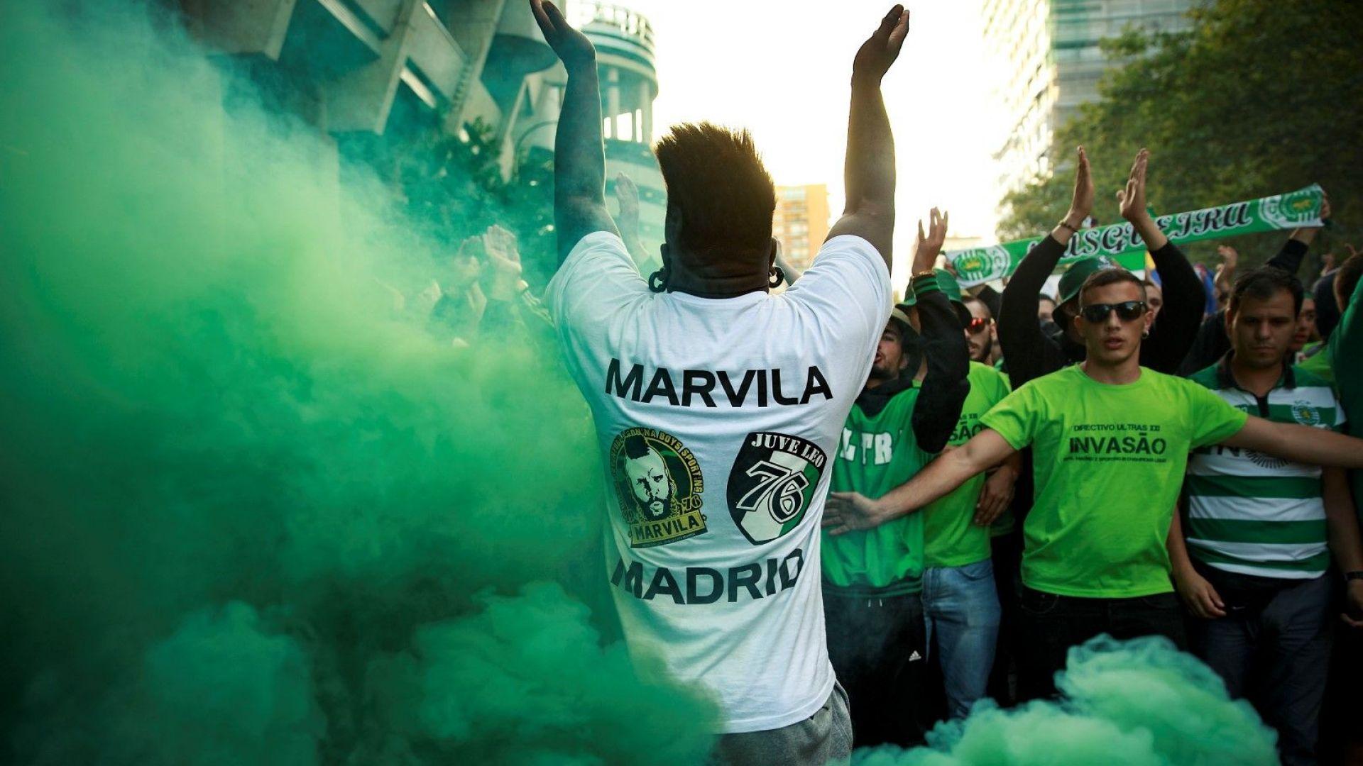 "50 маскирани ултраси ужасиха ""Спортинг"" (Лисабон), раниха играч"