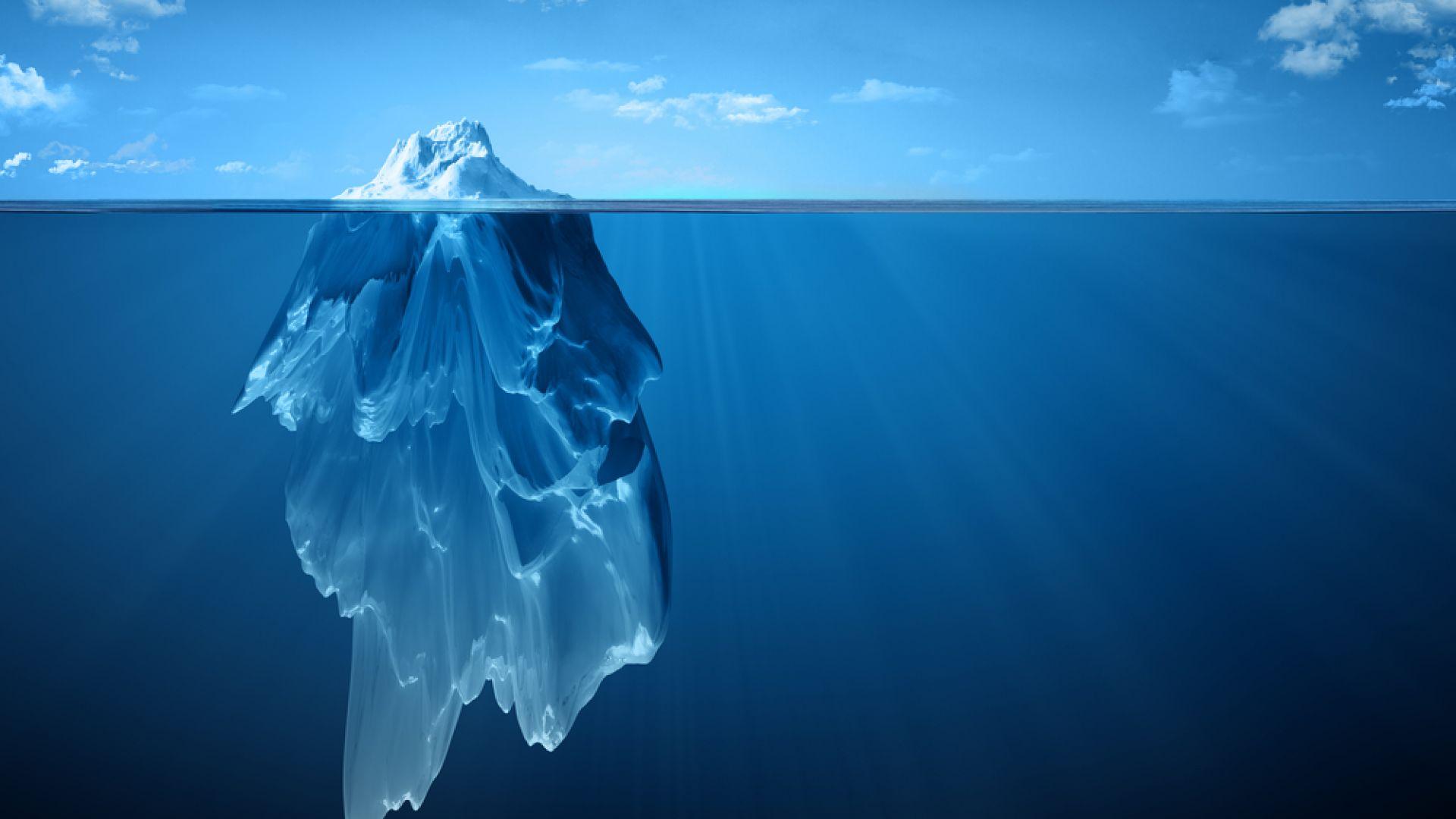 Меланж: срещата на континенталния  и морския лед