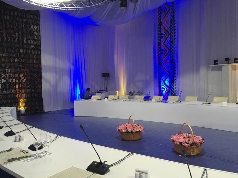 Залата, която ще посрещне лидерите на ЕС за неформална вечеря