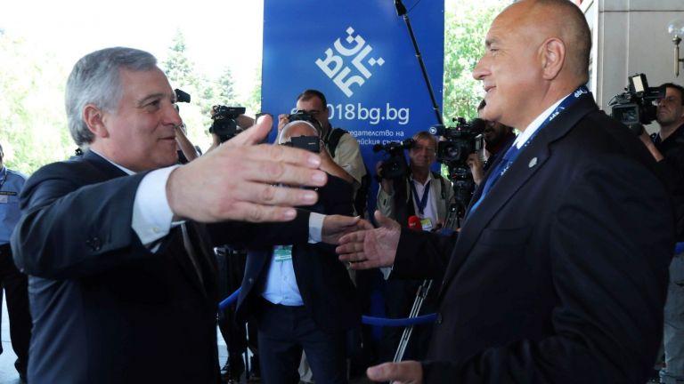 Бойко Борисов с Антонио Таяни
