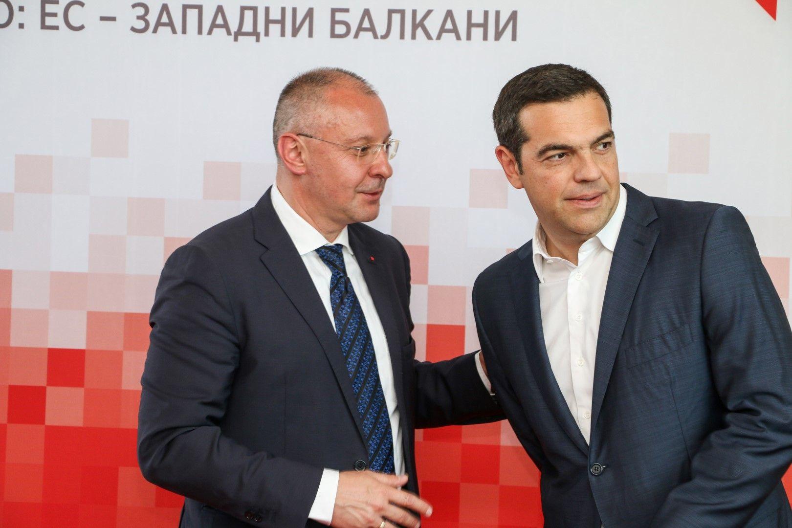 Сергей Станишев и Алексис Ципрас