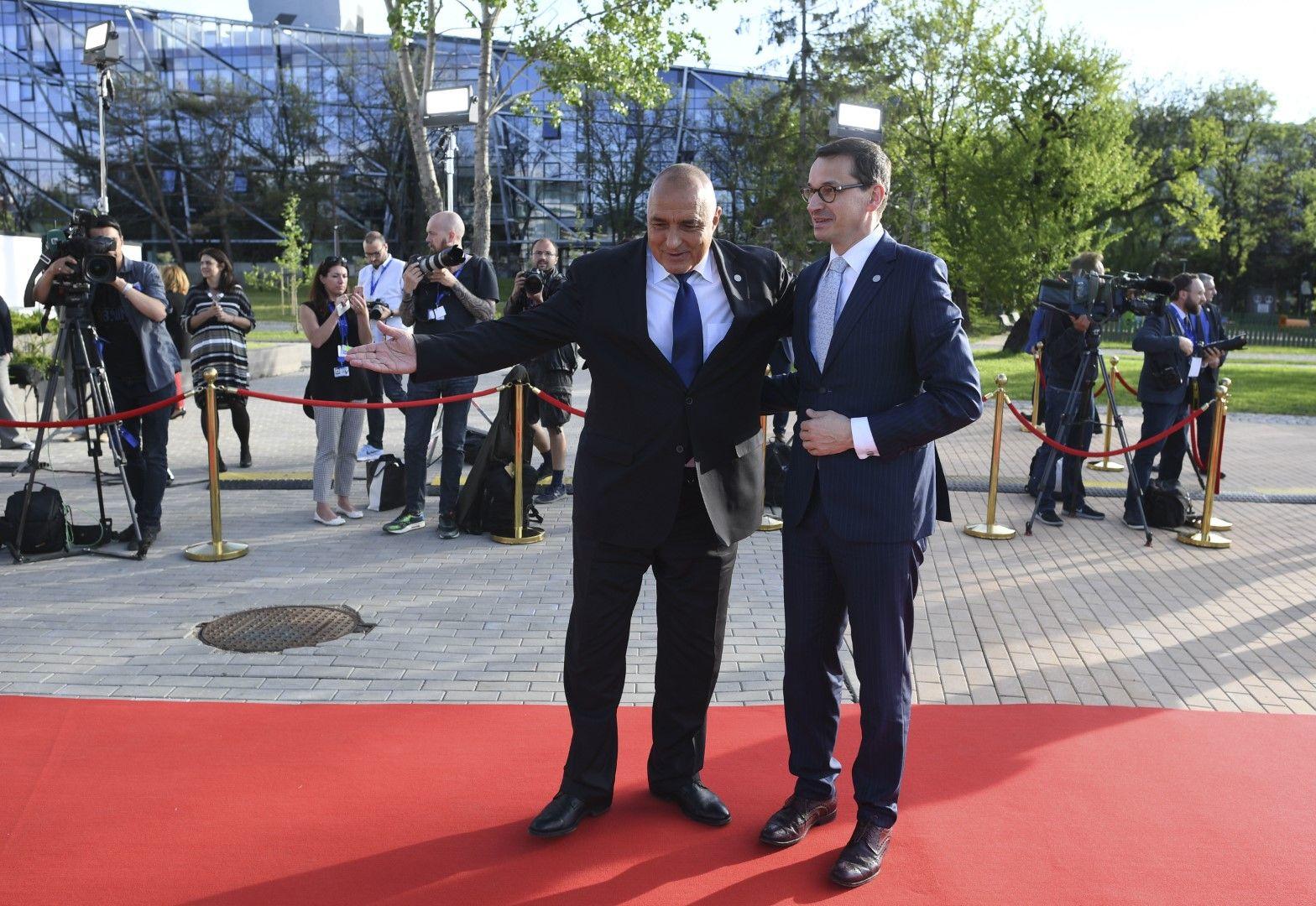 Бойко Борисов с премиера на Полша - Матеуш Моравецки