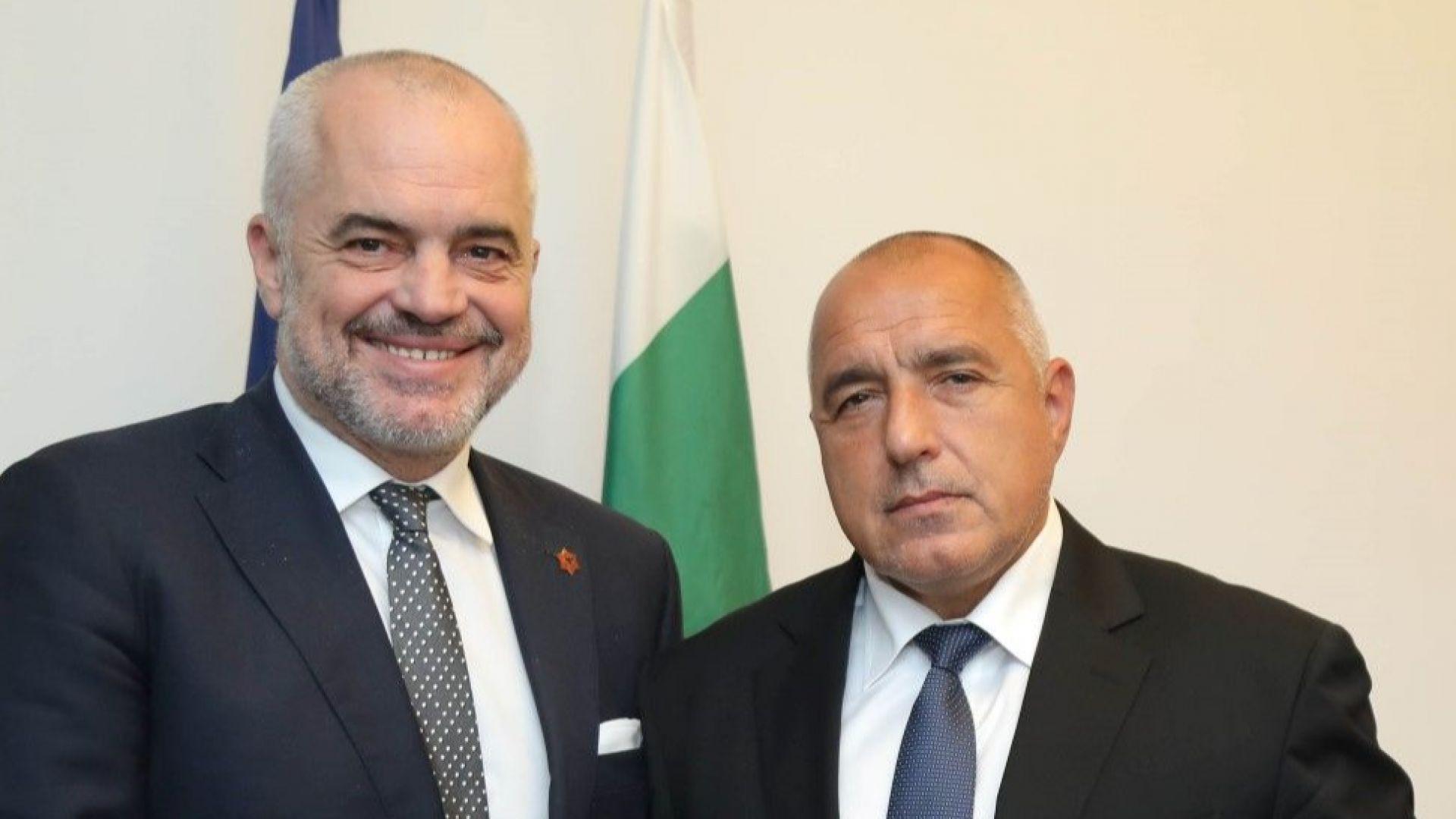 Премиерът на Албания Еди Рама и Бойко Борисов