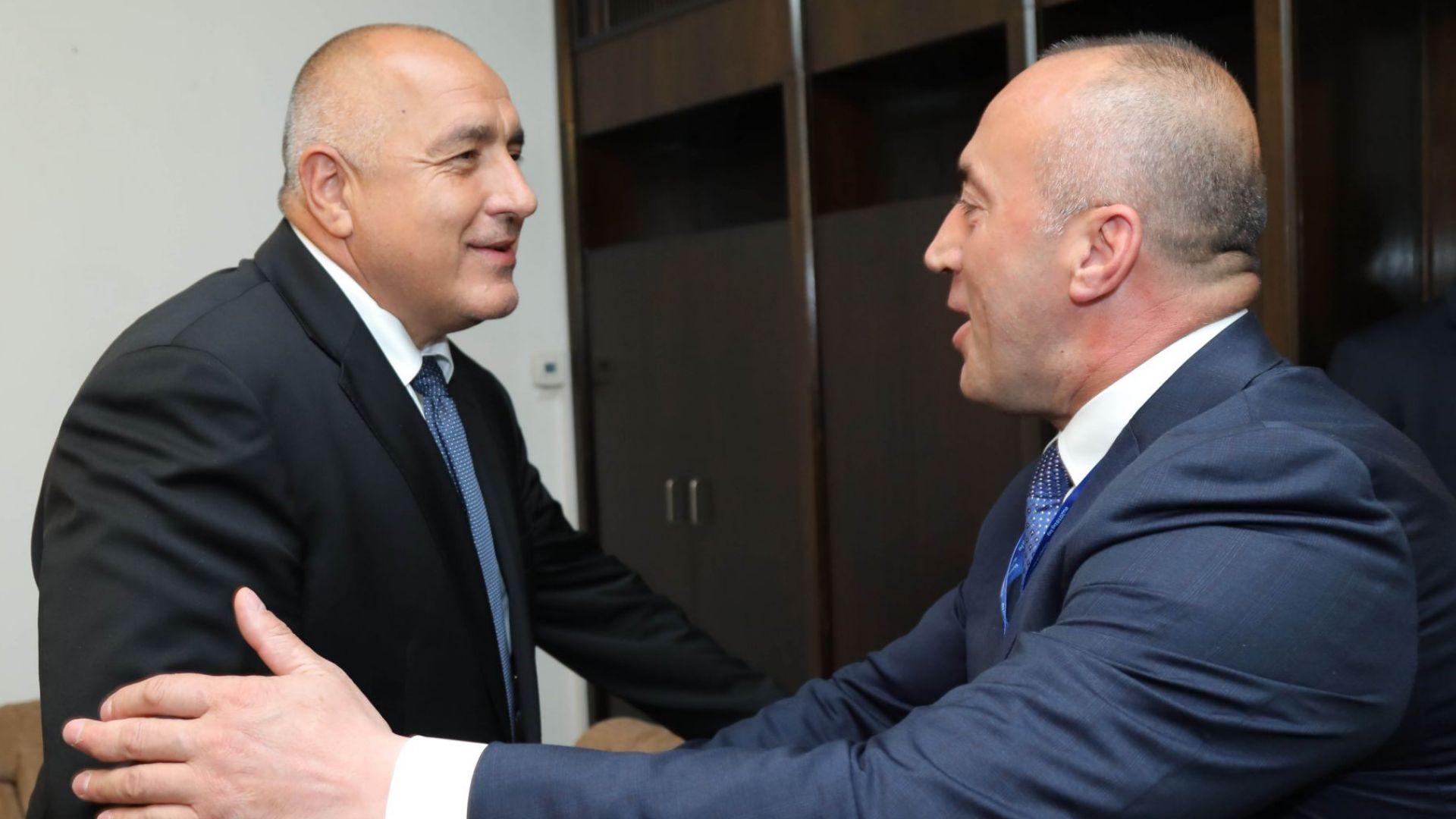 Бойко Борисов и премиерът на Косово Рамуш Харадинай