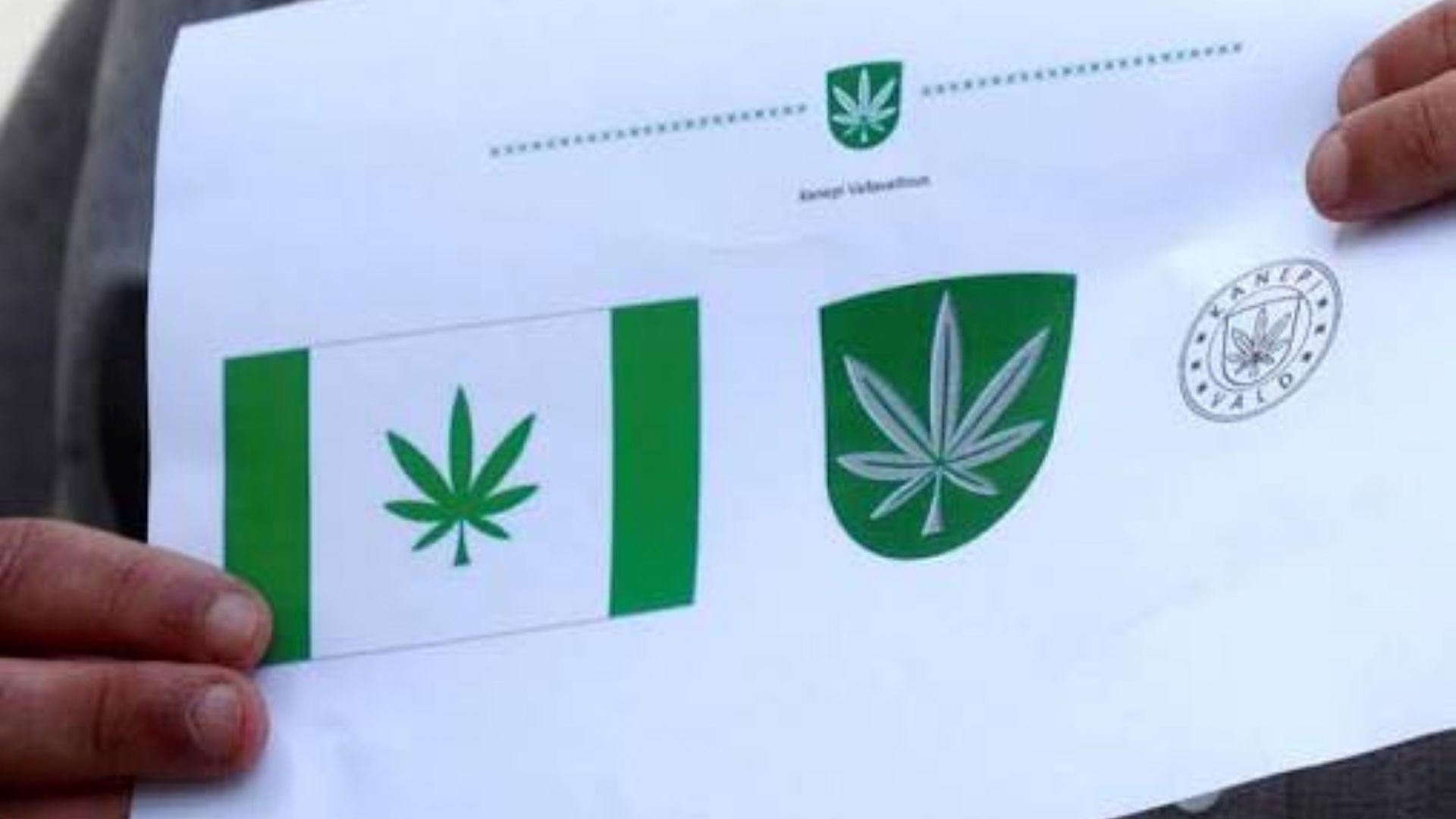 Eстонски град сложи листо марихуана на флага си