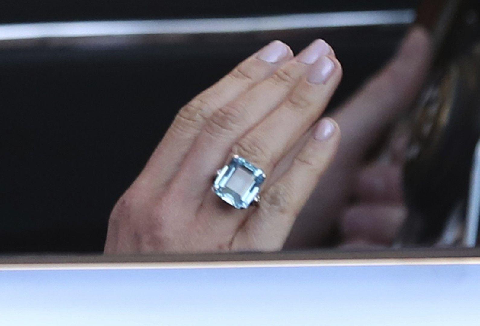 Меган с пръстен, принадлежал на принцеса Даяна