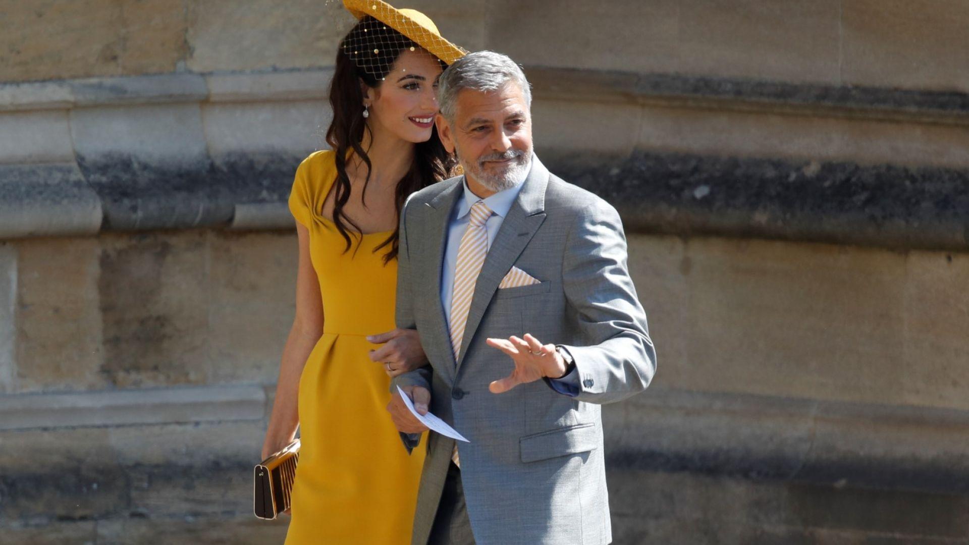 Джордж Клуни танцувал с Меган и Кейт на вечерното парти