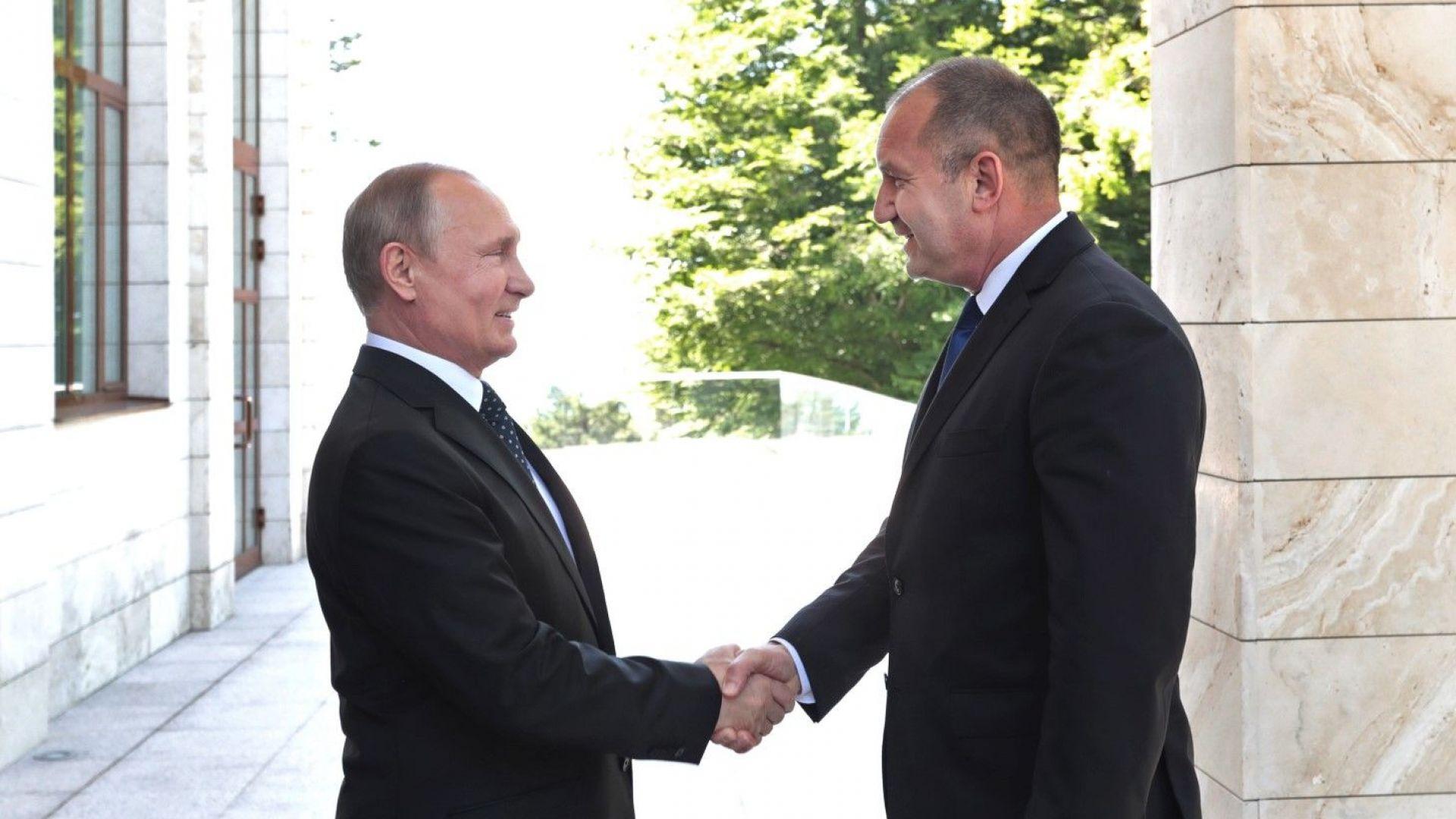 Президентът Владимир Путин посрещна българският държавен глава Румен Радев в Сочи