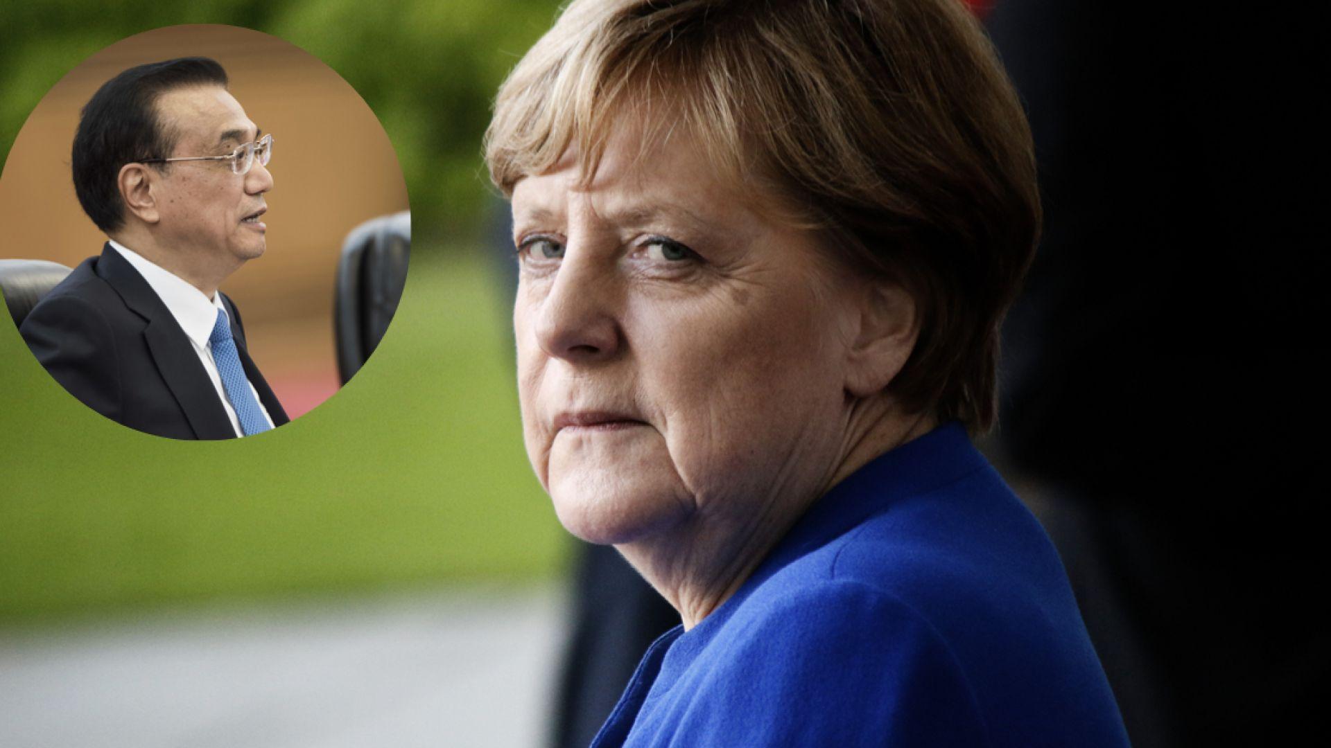 Меркел в Китай на фона на голямата търговска заплаха