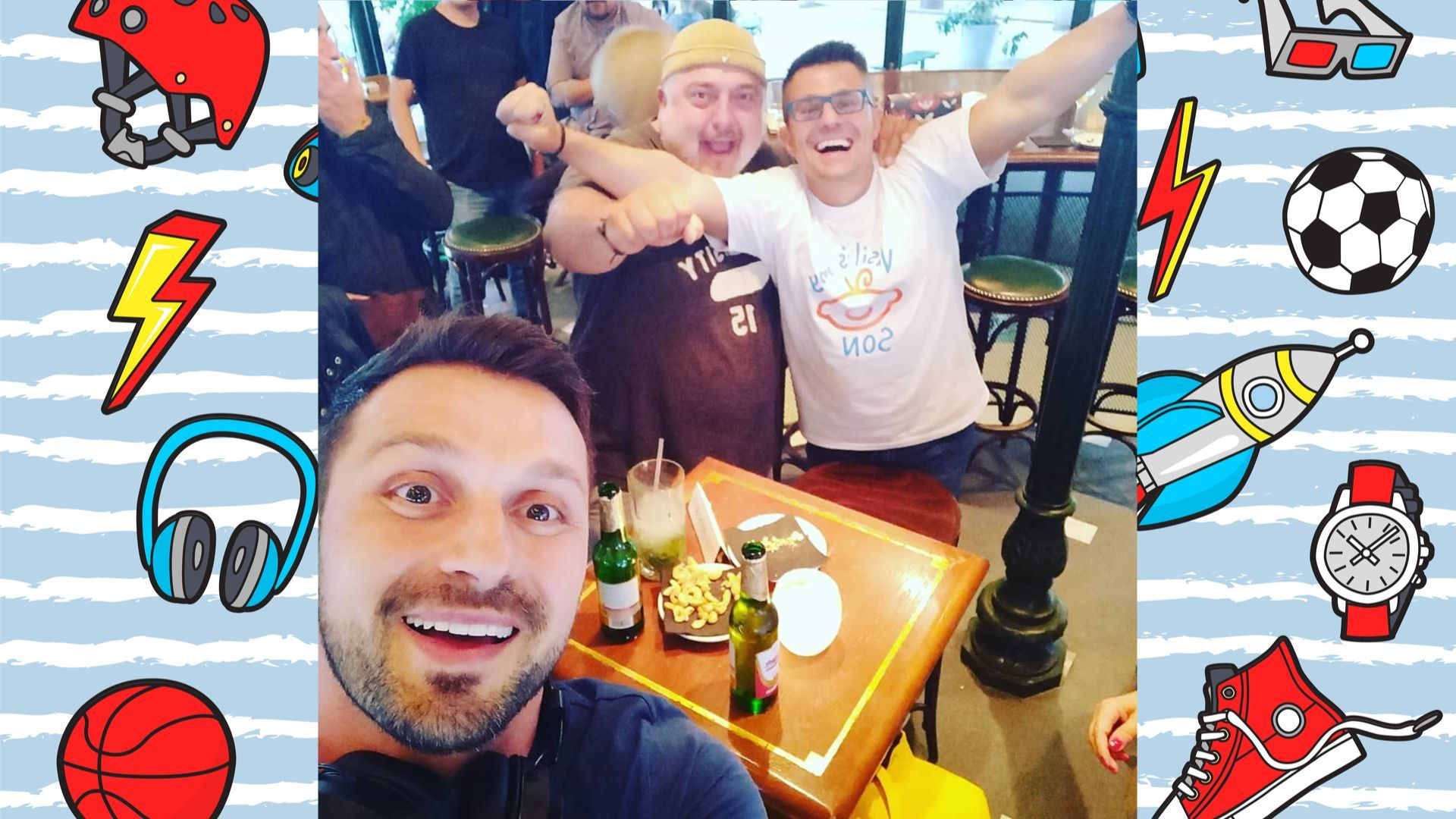 Андрей отпразнува раждането на сина си с Александър Сано и Ути Бъчваров