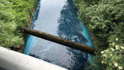 Слатинска река потече в синьо, никой не знае защо