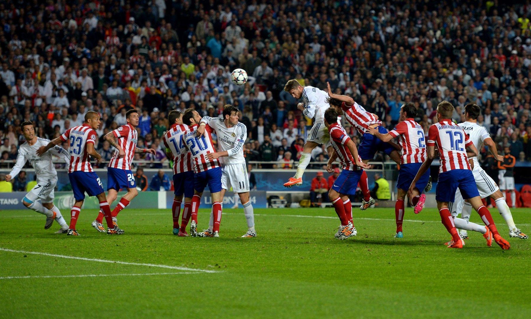 """Паметният гол на Рамос срещу """"Атлетико"""", който вкара мача в продължения"""