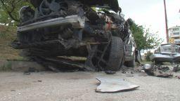 Мъртво пиян джигит помете 3 коли във Велико Търново