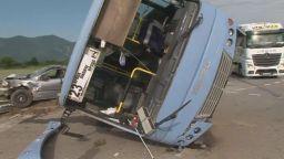 Автобус катастрофира край Враца, има пострадали