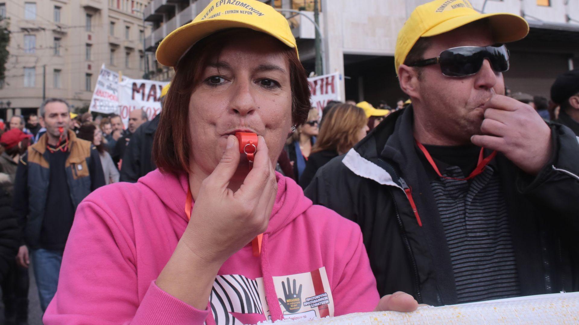 Обща стачка парализира Гърция в сряда