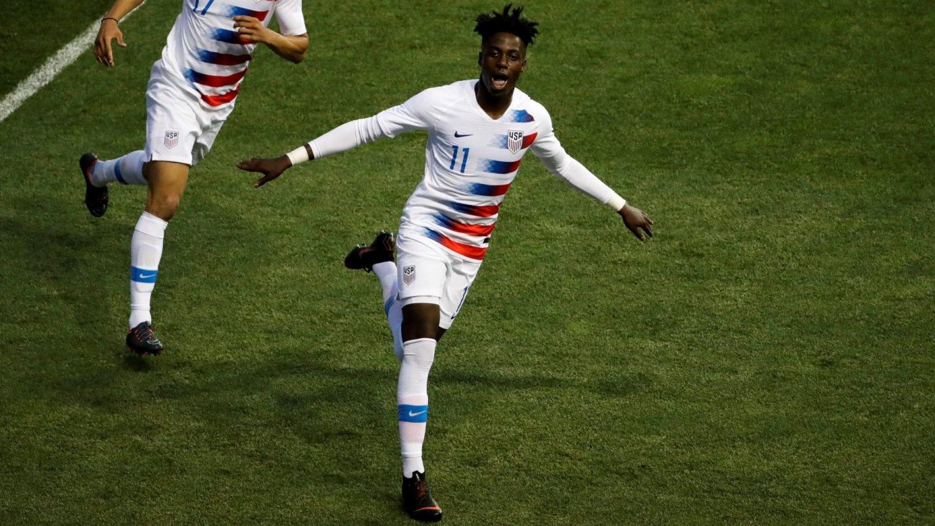 Синът на президента на Либерия дебютира с гол... за САЩ