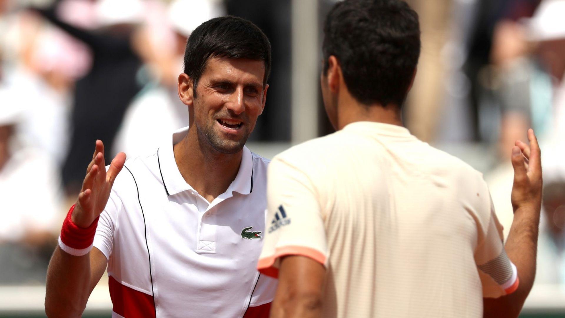 Джокович призова гейовете в тениса да не се крият