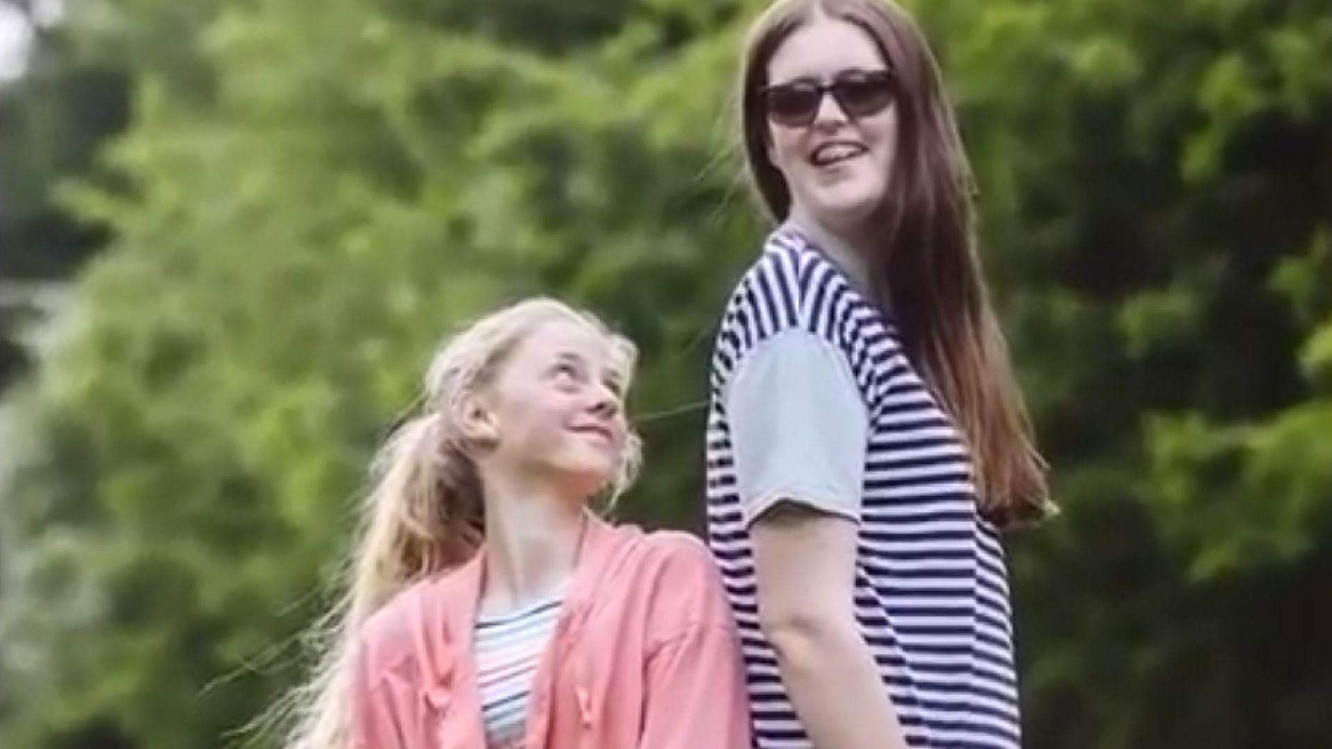 12-годишната Софи Холинс стана най-високото момиче в света (видео)