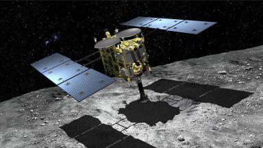 """Сондата """"Хаябуса 2"""" е направила кратер на астероида Рюгу"""