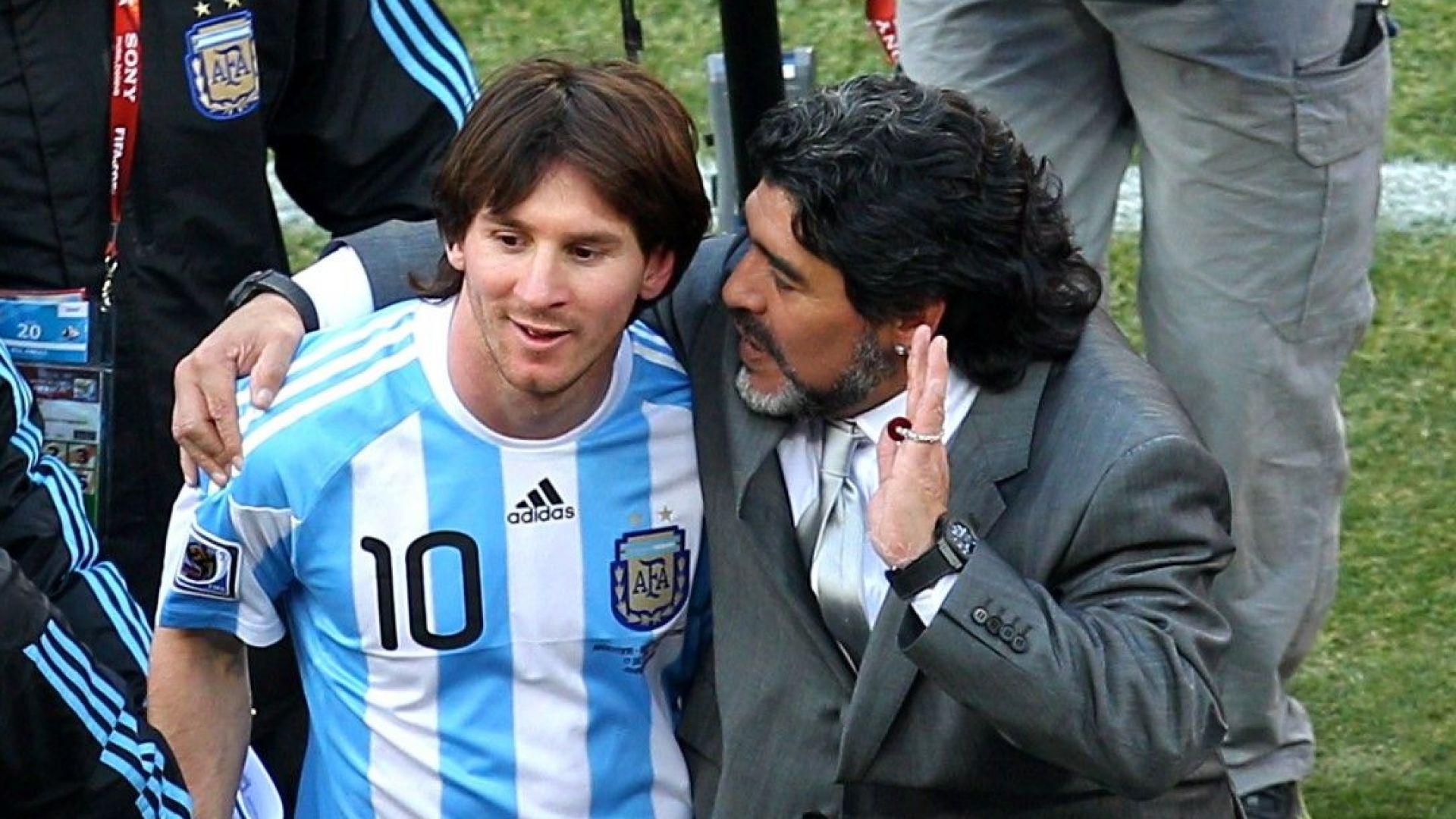 И президенти се включиха във вечния дебат: Меси или Марадона?
