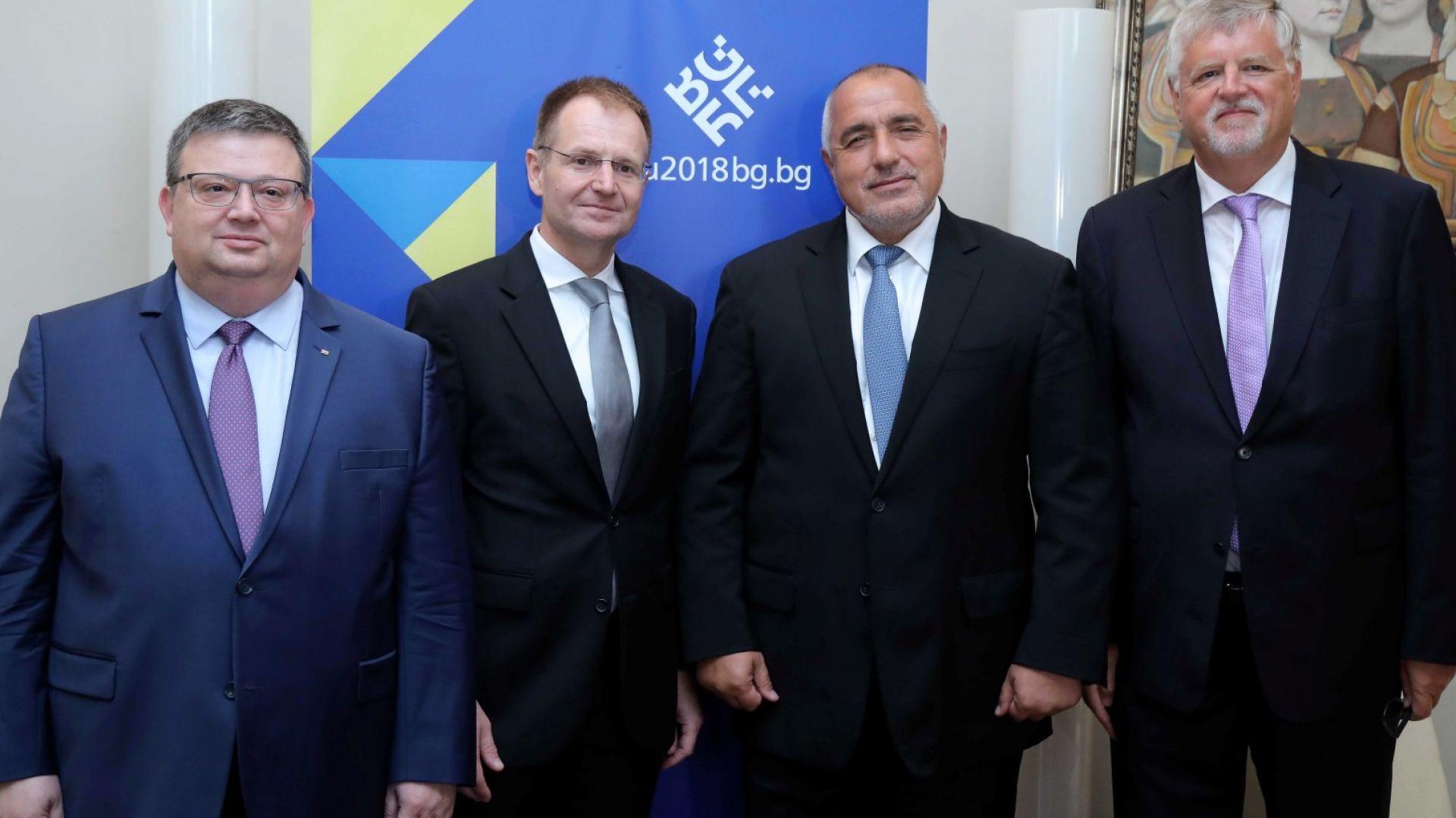 Борисов и Цацаров се срещнаха с федералния прокурор на Германия, обсъдиха тероризма