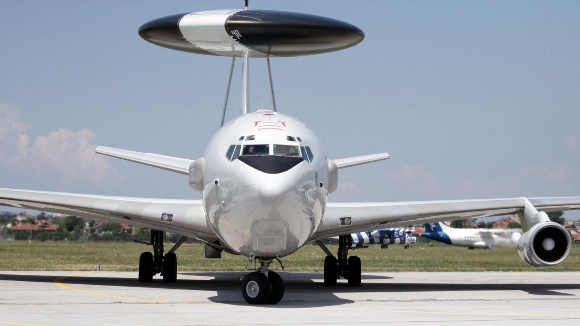 Показаха супер самолет на НАТО на летище София
