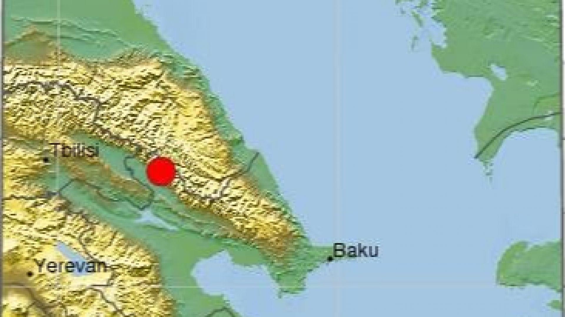 Силно земетресение в Азербайджан