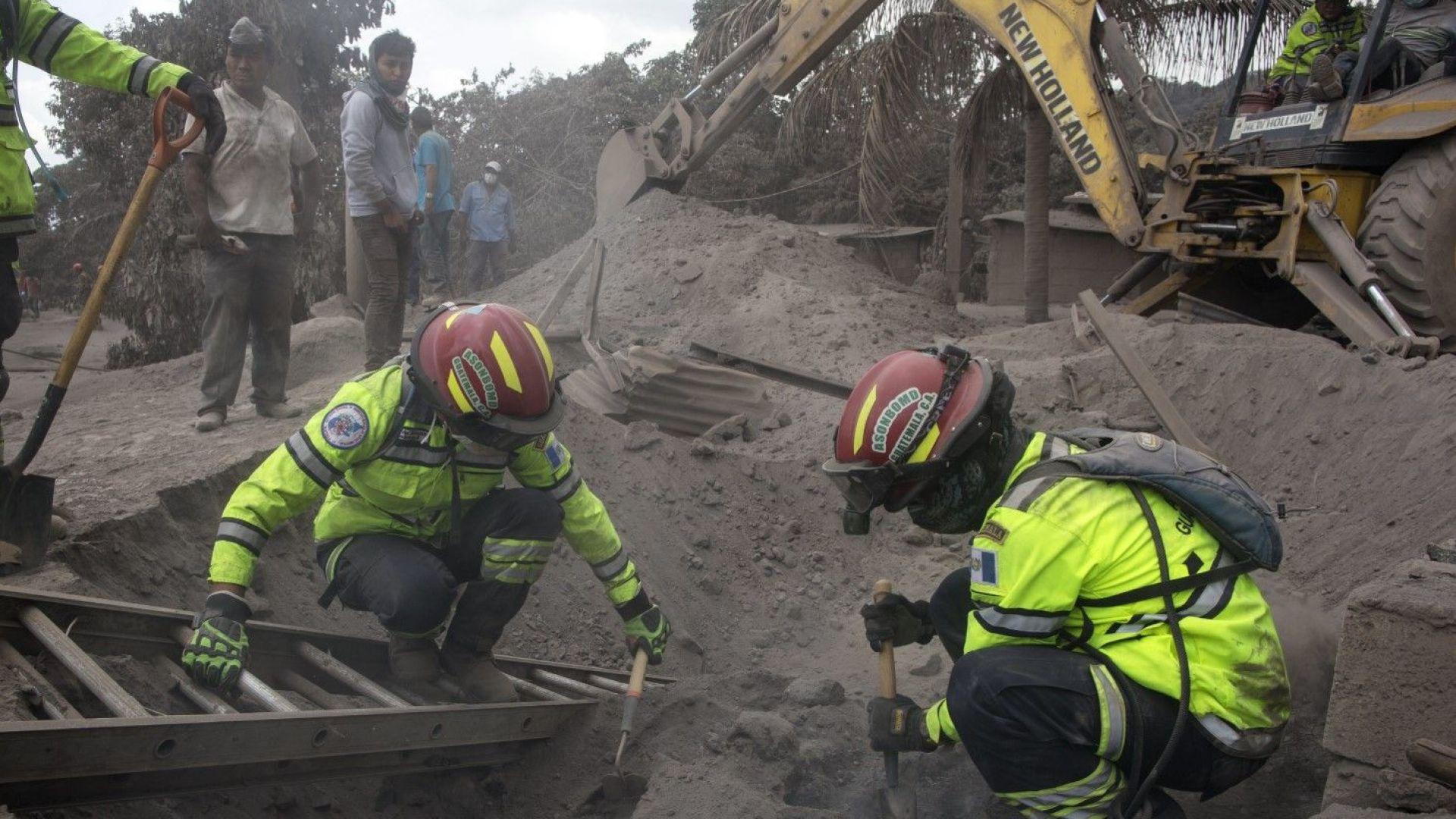 109 са вече жертвите на вулкана Фуего в Гватемала